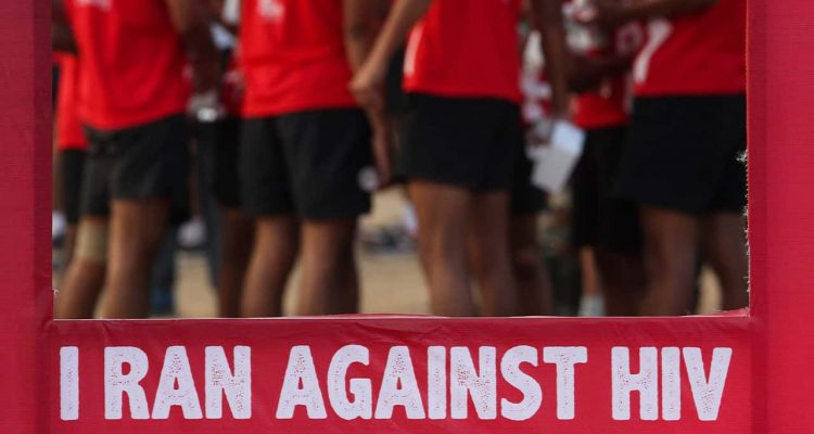 Photo of Indians participating in World AIDS Day