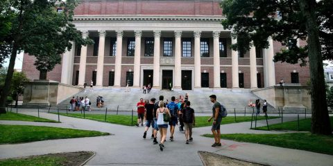 Photo of students at Harvard University