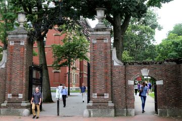 Photo of people at Harvard