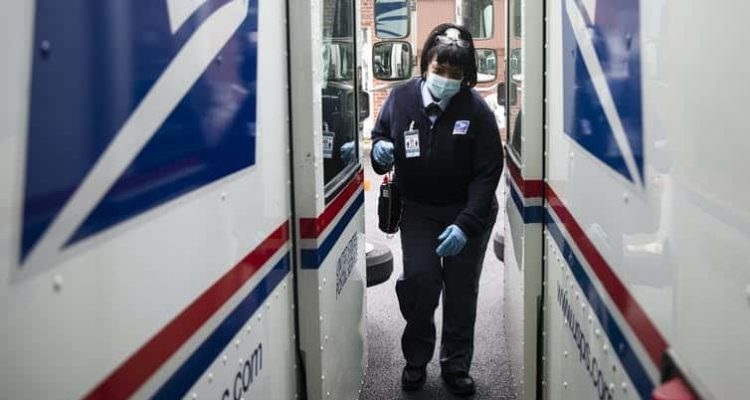 Photo of a postal worker