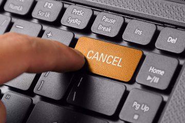 Photo of a cancel button