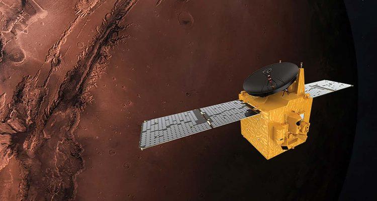 Photo of the Hope probe