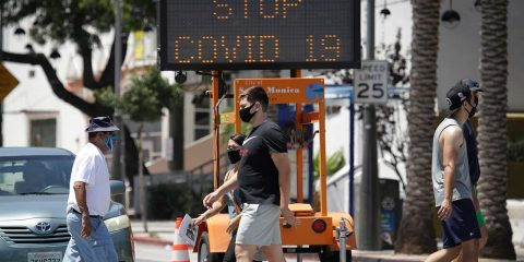 Photo of pedestrians in Santa Monica