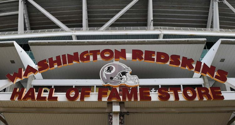 Photo of the Redskins store sign