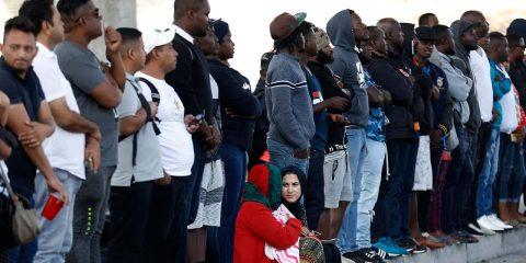 Photo of people waiting for asylum