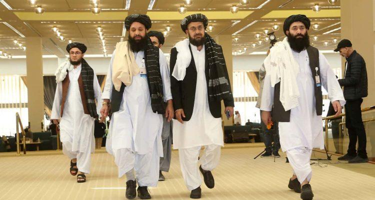 Photo of Afghanistan's Taliban delegation