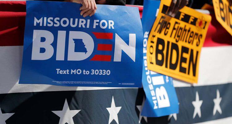 Photo of Biden supporters