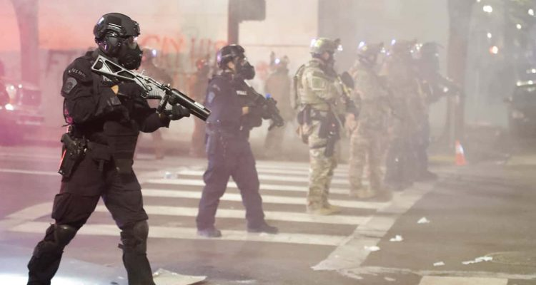 Photo of police in Portland