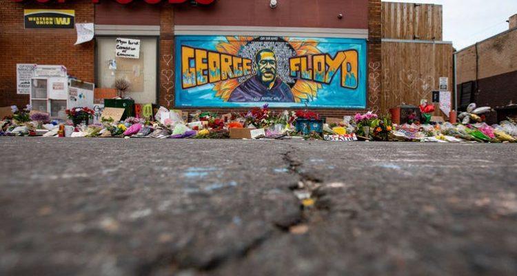 Image of a George Floyd Mural in Minneapolis