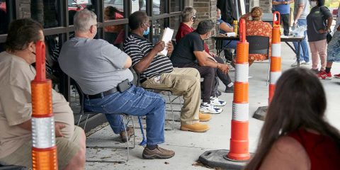 Photo of job seekers in Omaha