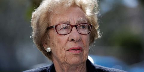 Photo of Eva Schloss, the stepsister of Anne Frank and a Holocaust survivor