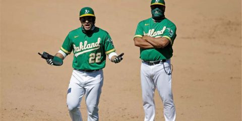 Photo of Oaklands outfielder Ramon Laureano