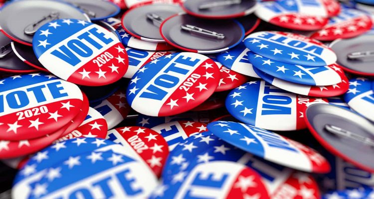 Photo of 2020 Vote election buttons