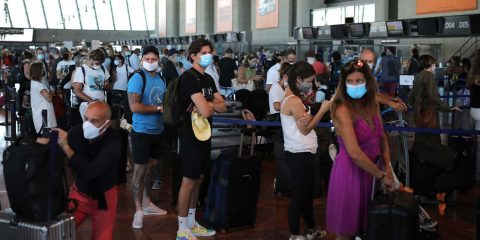 Photo of people at the airport