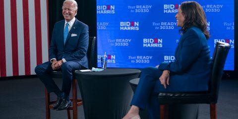 Photo of Biden and Harris