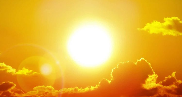 Photo of a blazing sun symbolizing a heatwave