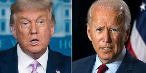 Photo of Donald Trump and Joe Biden