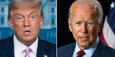 Photo of Donald Trump and Joe Biden