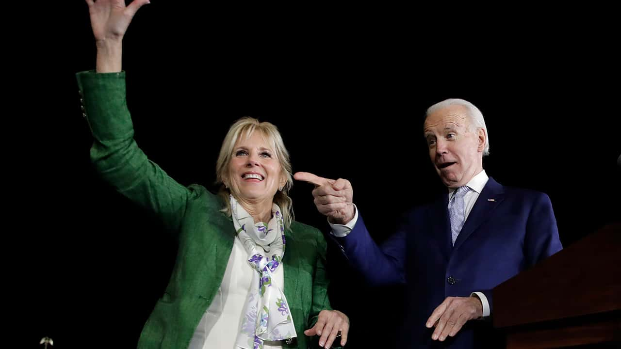 Photo of Joe Biden and his wife
