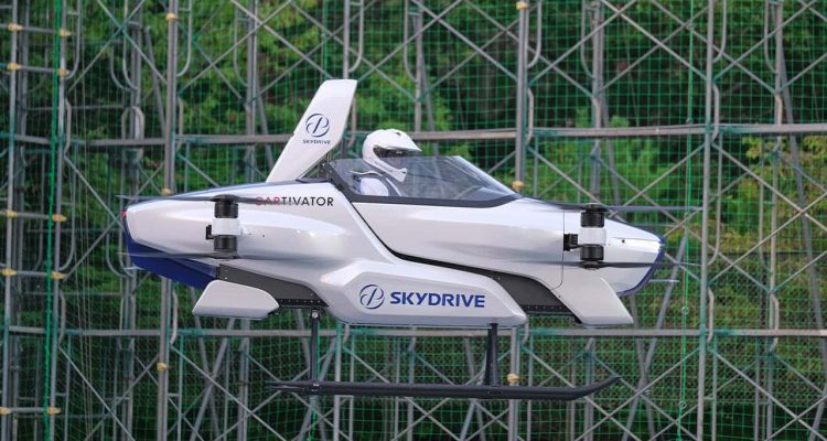 """Photo of manned '""""flying car"""" at Toyota Test Field in Toyota"""