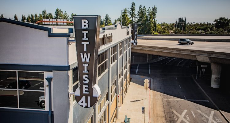 Aerial photo of the Bitwise Buiding in downtown Fresno, CaliforniawwP