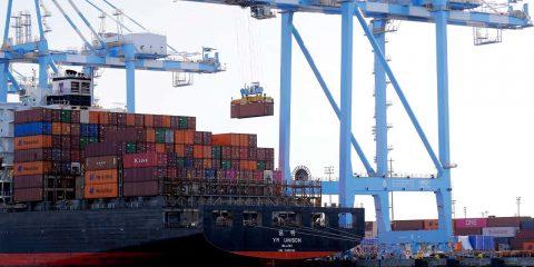 Photo of cargo cranes