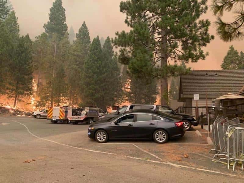 Photo of the Creek Fire near Shaver Lake, California