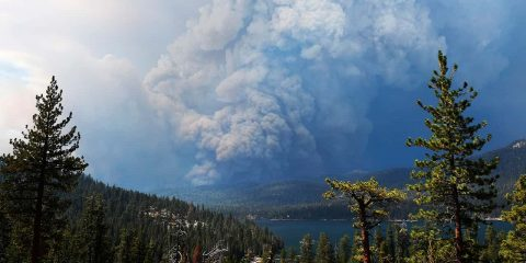 Photo of the Creek Fire smoke