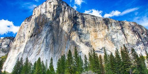 Photo of El Capitan, as seen from the floor of Yosemite Valley