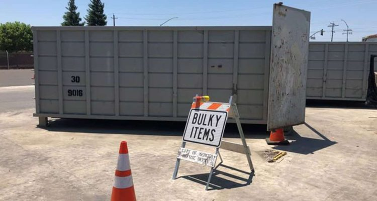 Photo of the city of Merced's bulky item drop-off site