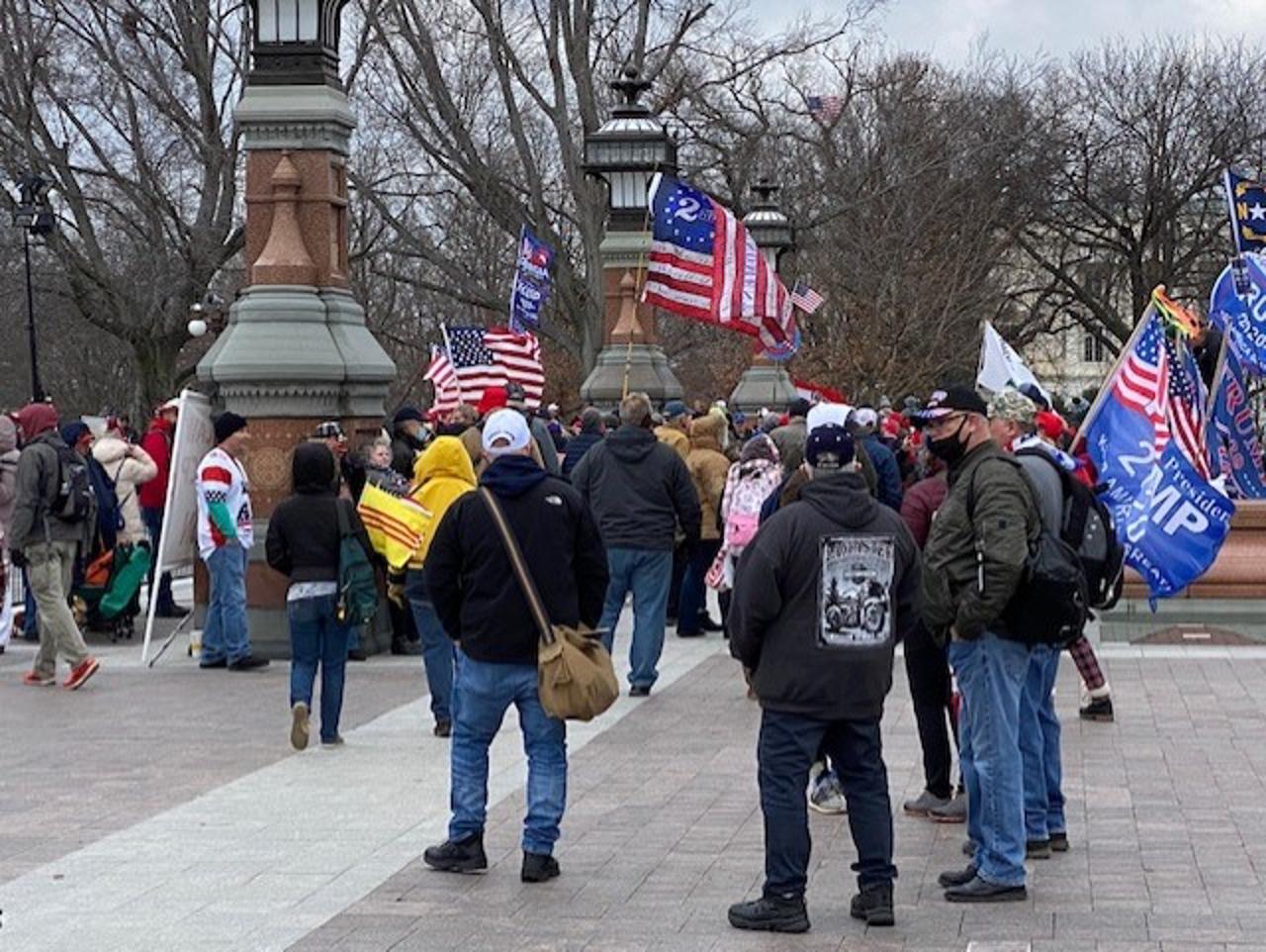 Jim Costa photo, Jan. 6 morning protest at Capitol