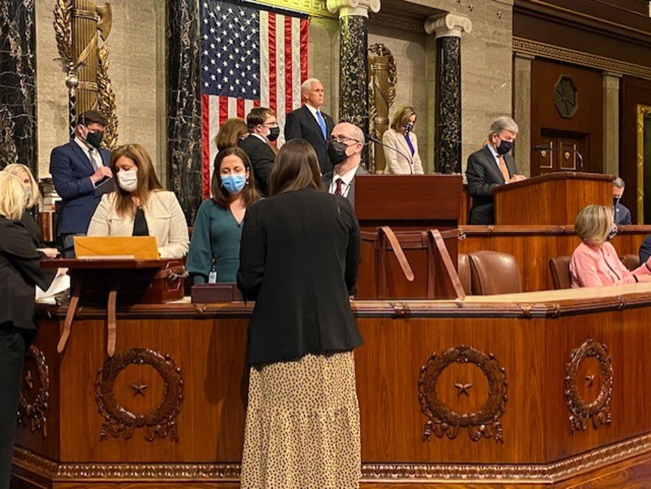 Jim Costa photo, Electoral Vote Certification from House chambers