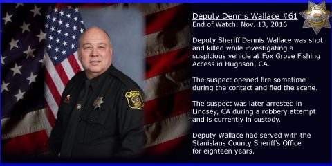 Portrait of slain sheriff's deputy Dennis Wallace. (Stanislaus County Sheriff's Department)