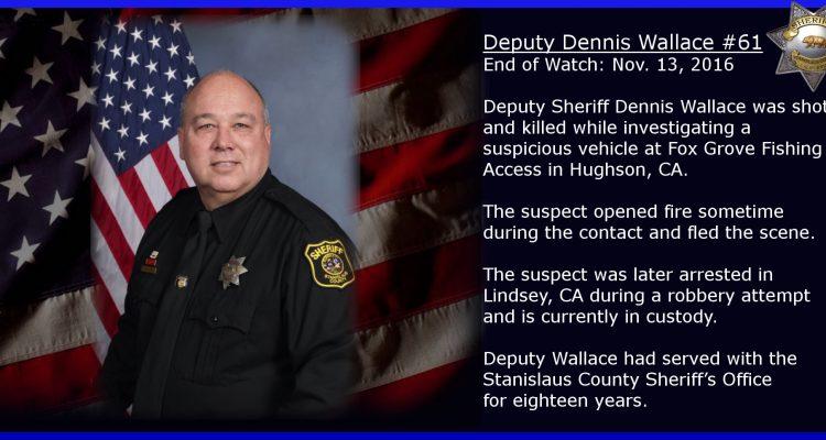 Portrait of slain sheriff's deputy Dennis Wallace. (Stanislaus County Sheriff's Department)