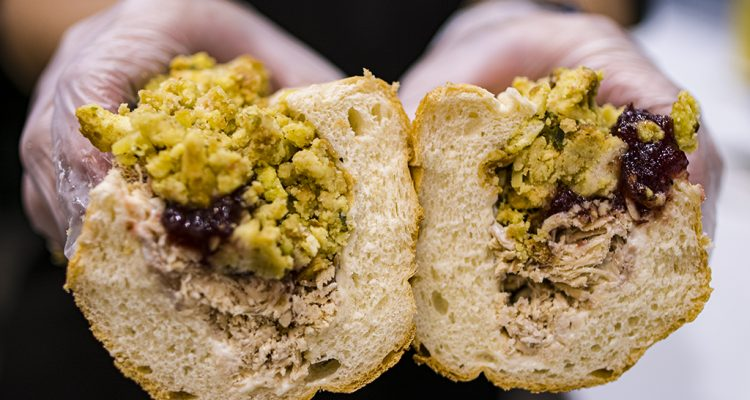 Photo of The Bobbie, the most popular sandwich at the Fresno's Capriotti's